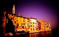 Velvia Rovinj (Rolf F.) Tags: old city sea urban sun film church architecture analog 35mm canon landscape town interestingness interesting lomo lca xpro lomography meer fuji cross roman croatia lomolca scan explore negative velvia processing fujifilm 100 analogue 135 fujichrome landschaft processed rovigno rovinj canoscan istria hrvatska rvp istra kroatien 100f 8800 istrien 8800f autaut fujichromevelvia100frvp