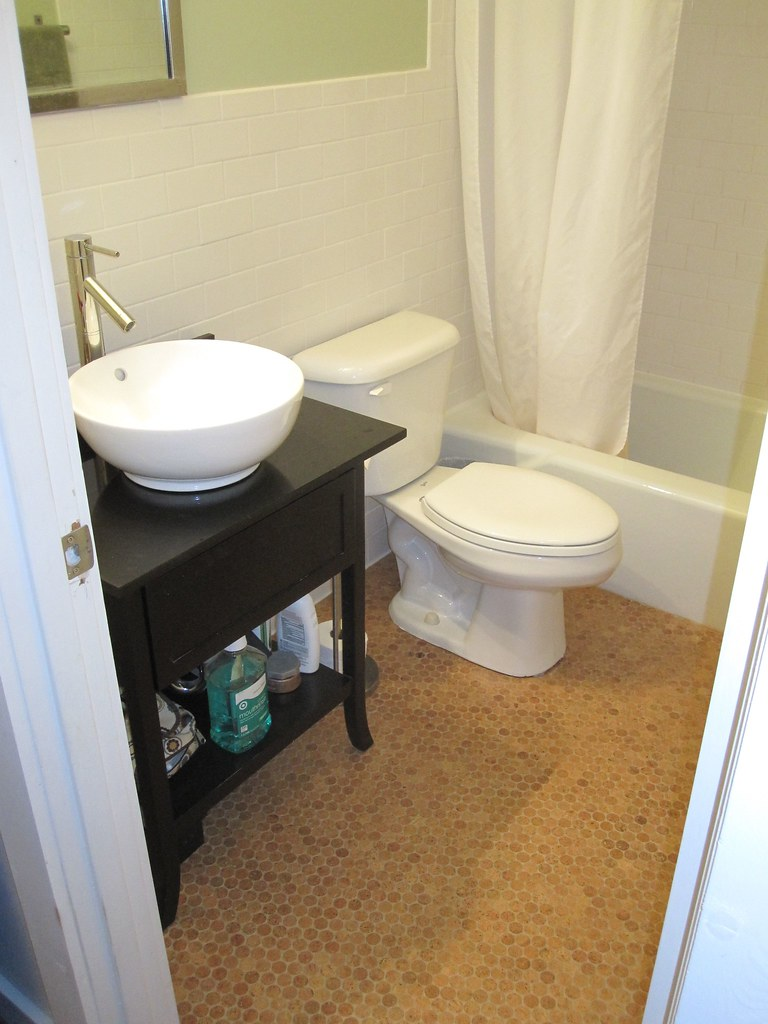 Bathroom Floor Tile After