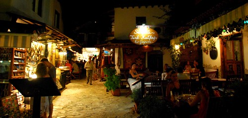 open-air dining in kas