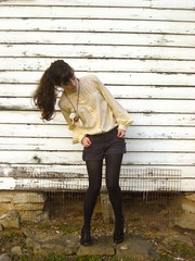 grandma's blouse (bloomingleopold) Tags: winter sunset black vintage nashville lace cream tights blouse shorts dye hm forever21 sevierpark bloomingleopold shortstights