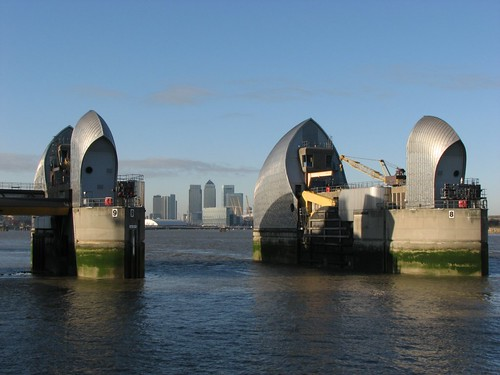Thames Barrier and London Docklands
