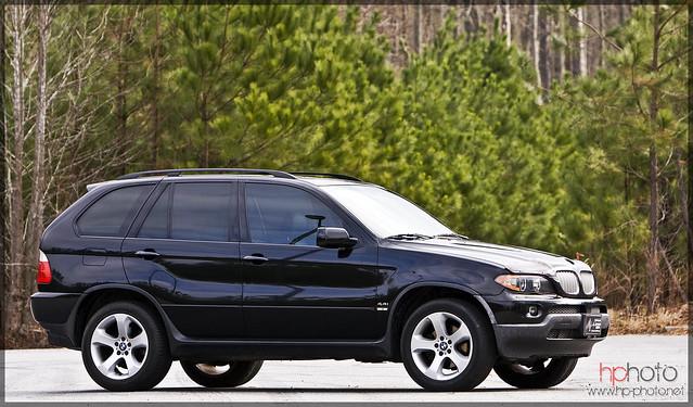 black 2004 bmw x5 44i