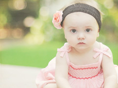 In the garden... (Shana Rae {Florabella Collection}) Tags: baby flower girl garden sweet bokeh headband mydaughter ninemonths shanarae florabellatextures