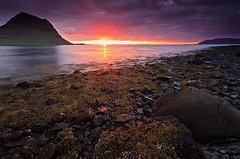 Iceland, Kirkjufell (Brett Cohen) Tags: sunset sun seascape color water canon landscape iceland rocks tide brett cohen 2009 kirkjufell