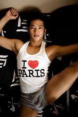 Jun (Markus Bollingmo) Tags: boy ballet man paris love asian japanese bed tank underwear top leg dancer sheets thigh classical undies markus jun bulge bollingmo markusbollingmo
