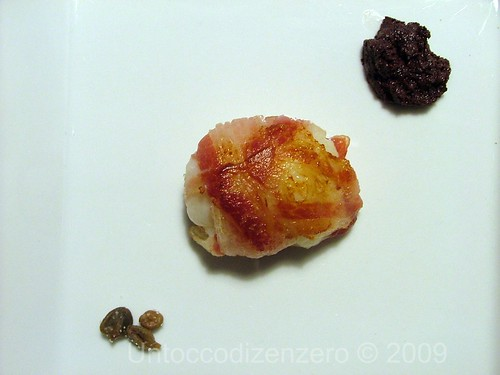 Capasanta e pancetta croccante, in abbinamento al sidro