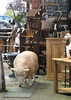 Sheep on the loose (wonky knee) Tags: uk shropshire sheep shrewsbury antiques bricabrac antiqueshop