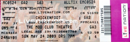 Chickenfoot Concert Ticket