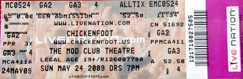 Chickenfoot Concert Ticket