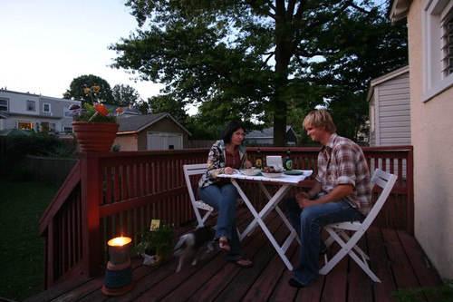 Outdoor dinner with Ruth in Havertown, PA.