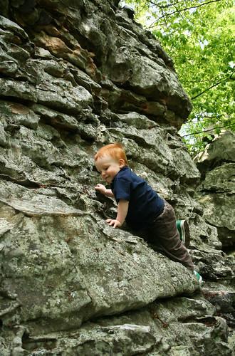 Climbing at Rocktown