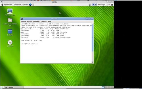 Consommation espace disque de la Archlinux