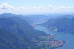 Como lake (_ Night Flier _) Tags: above city travel blue sky italy panorama mountain lake green rooftop nature water airplane landscape town flying high view earth top aviation aerial h2o fromabove coastline lombardia cessna lecco skyview lagodicomo lombardy birdeye aeronautic mandellodellario