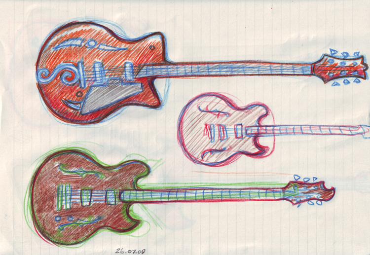 guitars sketches