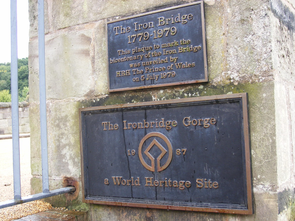Photo of Iron Bridge and Charles P A G Mountbatten-Windsor bronze plaque