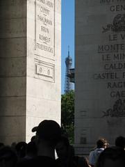 Eiffel Tower (Jon Barbour) Tags: paris france tower de europe arc triomphe eiffel canoncamera europeantravel flickrcommunity herethereandeverywhere worldwidewandering wetraveltheworld travelplanet myglance strictlygeotagged geographyofphotography silverstarsblipfree