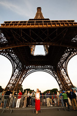 Deb with Eiffel Tower