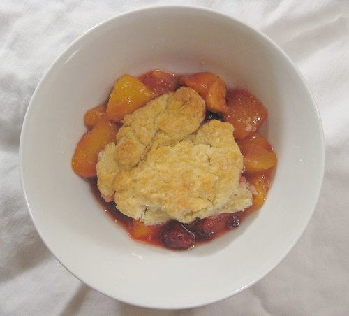 Peach and Blackberry Cobbler 2