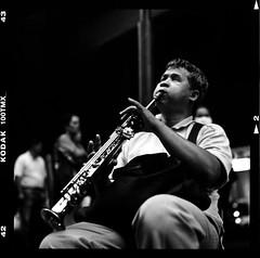 "Blind Sax Melancholy - Bangkok, city of angels (Sailing ""Footprints: Real to Reel"" (Ronn ashore)) Tags: street people blackandwhite music men film musicians mediumformat faces blind melancholy saxophone blindness hasselblad503cx 80mmf28planar 100tmy 2009aug037hb80mmf28100tmybkkstormvwvansax"