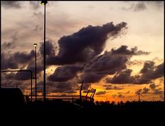 Autobahn at night (Kirsten M Lentoft) Tags: sunset sky clouds germany silhouettes autobahn worldbest platinumphoto infinestyle kirstenmlentoft