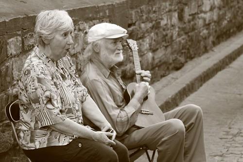 Street musicians, Quebec.