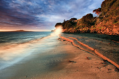 A Splash of Sun (Chris Gin) Tags: new beach sunrise bay auckland zealand filter nz nd graduated murrays rangitoto