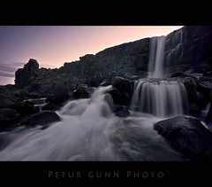xarrfoss (Ptur Gunn Photograpphy) Tags: park sunset river lens photo waterfall angle 10 sony wide sigma national alfa mm 20 700 foss 1020 ingvellir petur gunn ptur gunnarsson canion xarrfoss almannagj mywinners abigfave