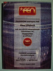 FEN Fashion Europe Net Supporter Gerd Ribbeck, Teamdirektor (JeansGerd) Tags: