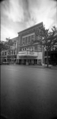 majestic theatre (donnievendetta) Tags: white black 120 film wisconsin holga exposure angle theatre