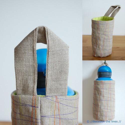 Make a Water Bottle Holder {52 UFO Quilt Block Pick UP} - : quilted water bottle holder pattern - Adamdwight.com