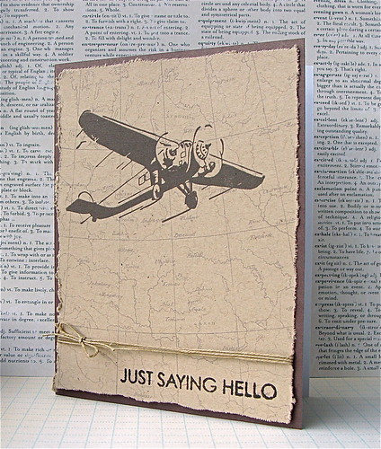 Hero Arts Digital Masculine Card - Just Saying Hello
