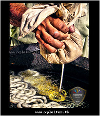 Jalebi Step 1 (Xploi ) Tags: world travel pakistan light summer vacation copyright orange eye art love yellow festival photoshop geotagged photography idea nikon asia heart  captured passion sweets karachi ramadan hdr cs4 atif jalebi xploiter nikoncorperation