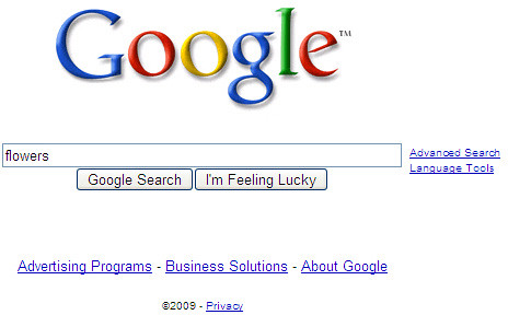 Old Google Search Box