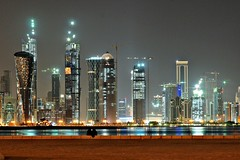 Doha Financial District, Qatar (paulinuk99999 (lback to photography at last!)) Tags: nightphotography nightshot sony doha qatar carlzeiss paulinuk99999 cz1680z