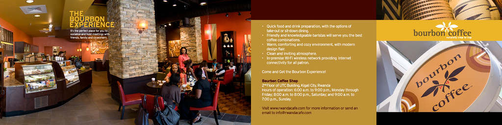 Bourbon Coffee Brochure 5.5x5.52