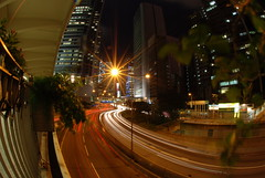 Hong Kong traffic at night