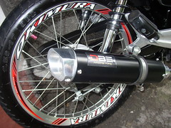 DBS Pipe and Okimura Rims fitted to a Honda XRM RS 125 (4) (paragontarlac) Tags: honda pipe rims rs dbs 125 xrm okimura