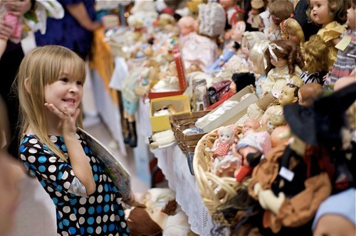 Lauren at the doll show