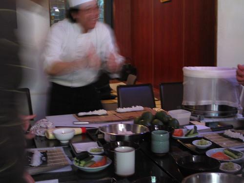 Chef talking