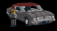 Jaguar XJ6 Coupe Series II (lego911) Tags: auto car model lego render jaguar coupe cad lugnuts moc xj6 ldd seriesii foitsop