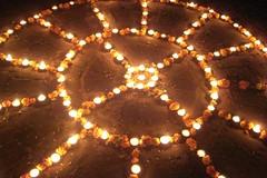 Diwali_Upasana_kolam+++212 (Manohar_Auroville) Tags: light festival fireworks diwali luigi bharat auroville kolam deepavali fedele nivas manohar upasana