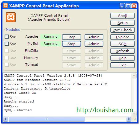 LocalHost - XAMPP SC