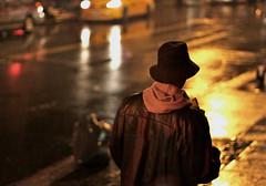 """Rainy Night"" (Sion Fullana) Tags: urban newyork hat rain night nightshot taxi streetphotography rainy dslr allrightsreserved newyorkers wetpavement rainynight urbanshots guywithahat creativeshots urbannewyork canon50d lightsreflected sionfullana"