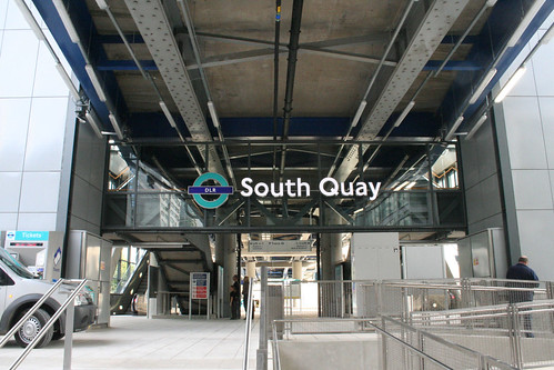 Main Entrance to South Quay Station