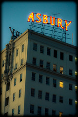 The Asbury (TooMuchFire) Tags: signs typography losangeles neon signage asbury neonsigns macarthurpark midwilshire lightroom oldsigns downtownlosangeles canon30d losangelesatnight asburyapartments oldneonsigns scaffoldsigns
