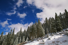 (scifitographer) Tags: autumn trees winter sky mountain snow mountains cold pine canon october colorado rocky rockymountains 2009 pinetrees canon2470mml bethanthony 5dmkii retroreflectography