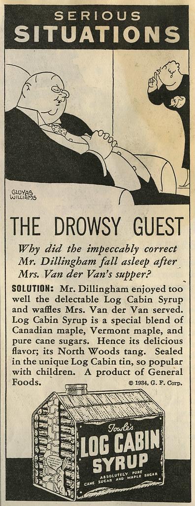 Log Cabin Syrup ad_1934_tatteredandlost