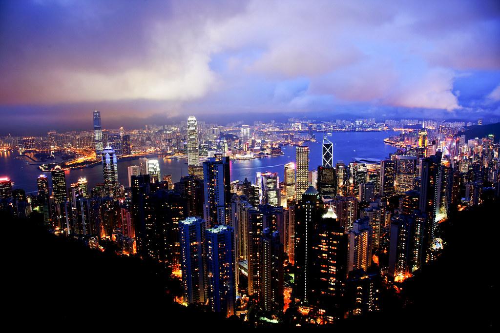 香港太平山山頂夜景