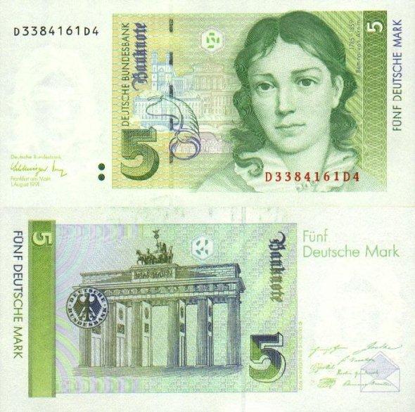 5 mariek Západné Nemecko 1991
