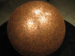 (Jeff_Werner) Tags: art 120 vancouver ball giant one downtown gallery side exhibit east million pennies pounds centrea